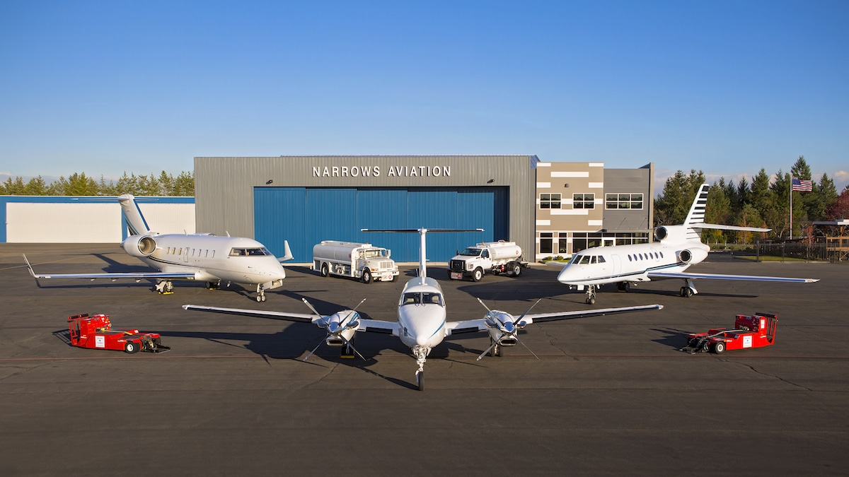 Tacoma Narrows Aviation new FBO Corporate Air Center/KTIW