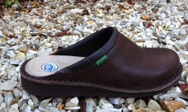 Baltic plus Mule in Polished Deep Brown