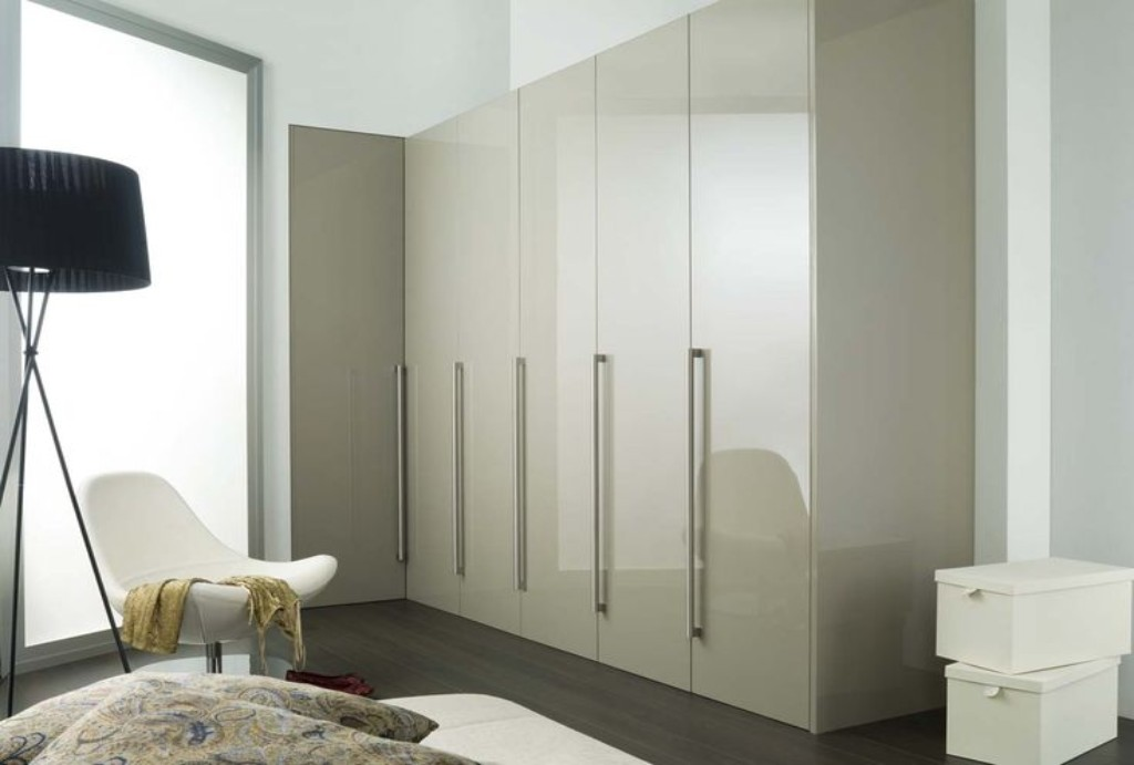 Phoenix Gloss Mussel Fitted Bedroom, Cedarwood Kitchens, Bedrooms & Home Interiors
