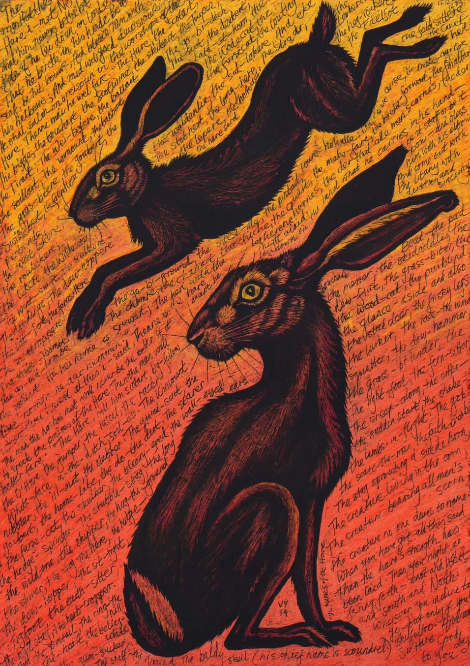 'The names of the hare' card