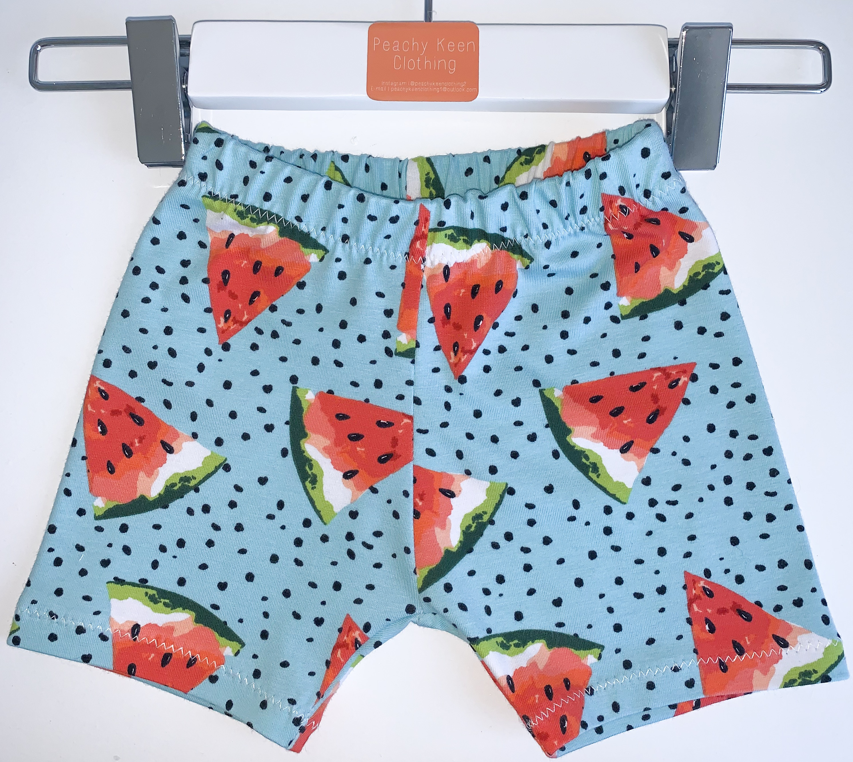 Aqua Watermelon Shorts/Leggings