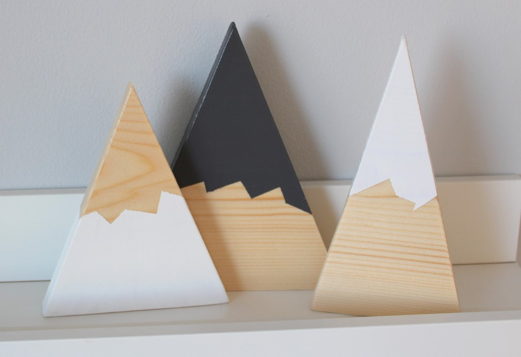 Wooden Mountains - Set of 3