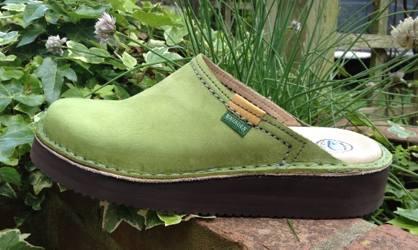 Standard Mule in Lime Green Nubuck Leather