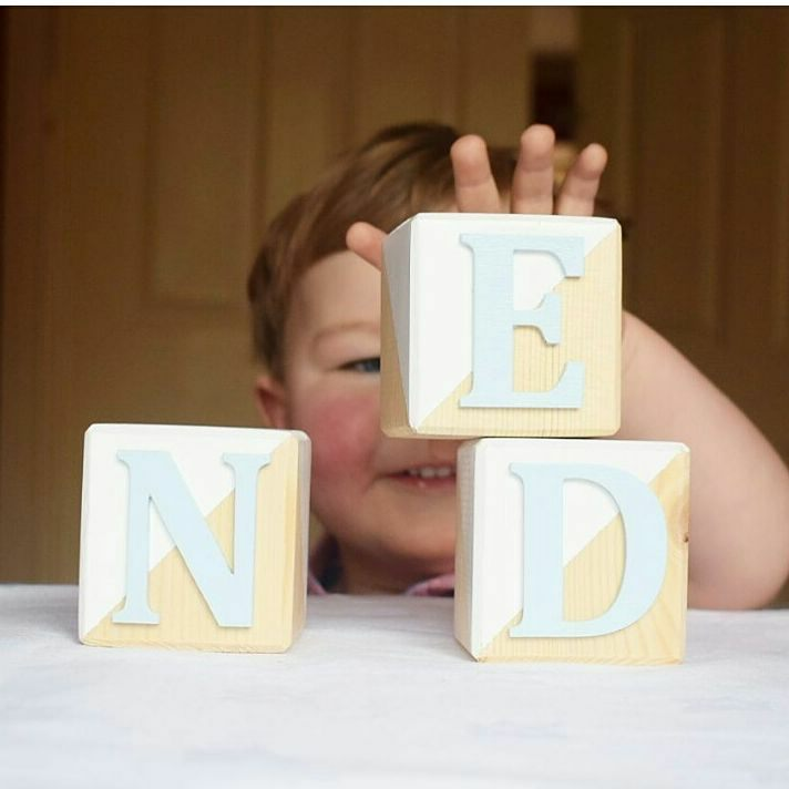 Personalised Wooden Cubes - White Only