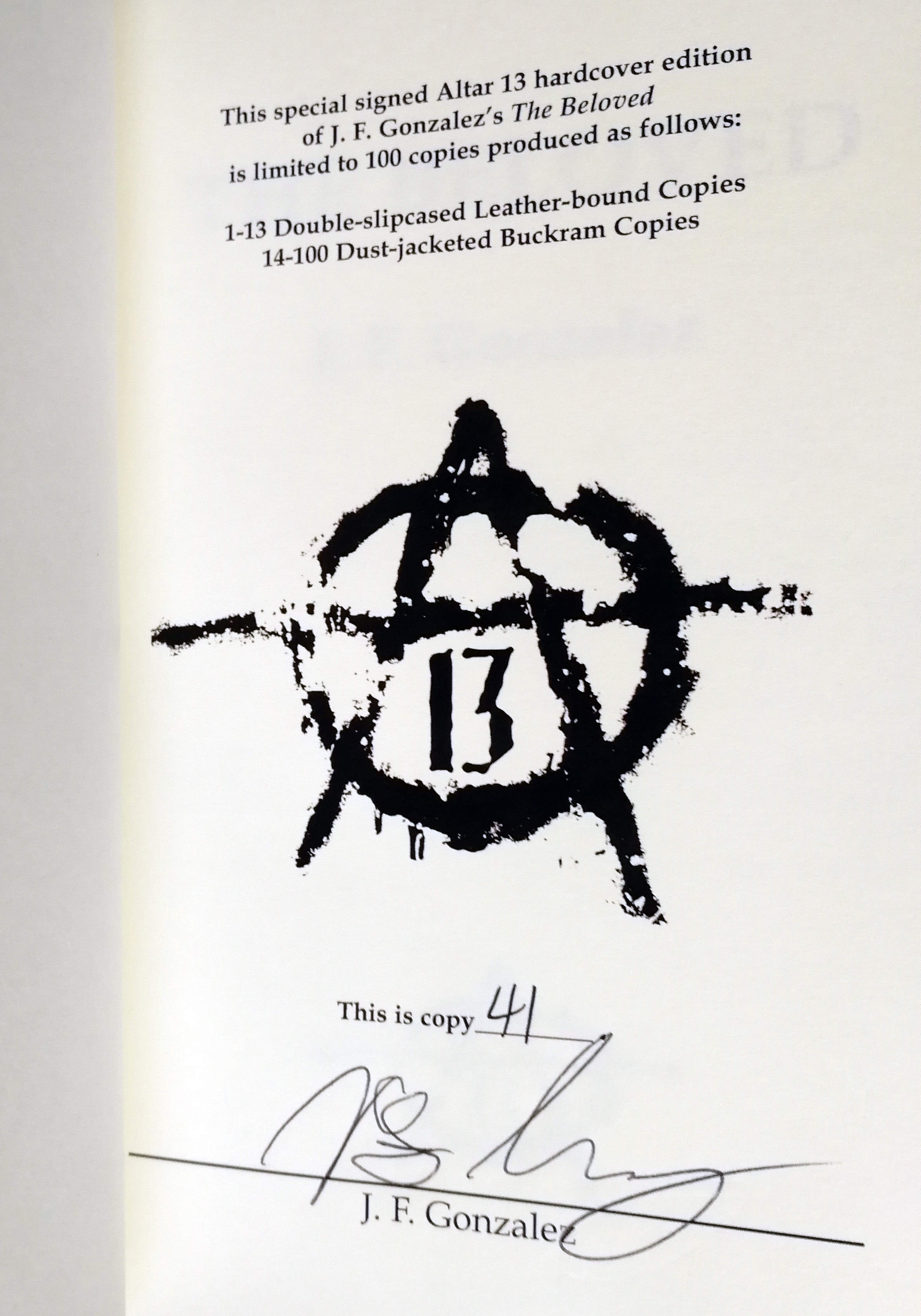 The Beloved Signed Limited Edition