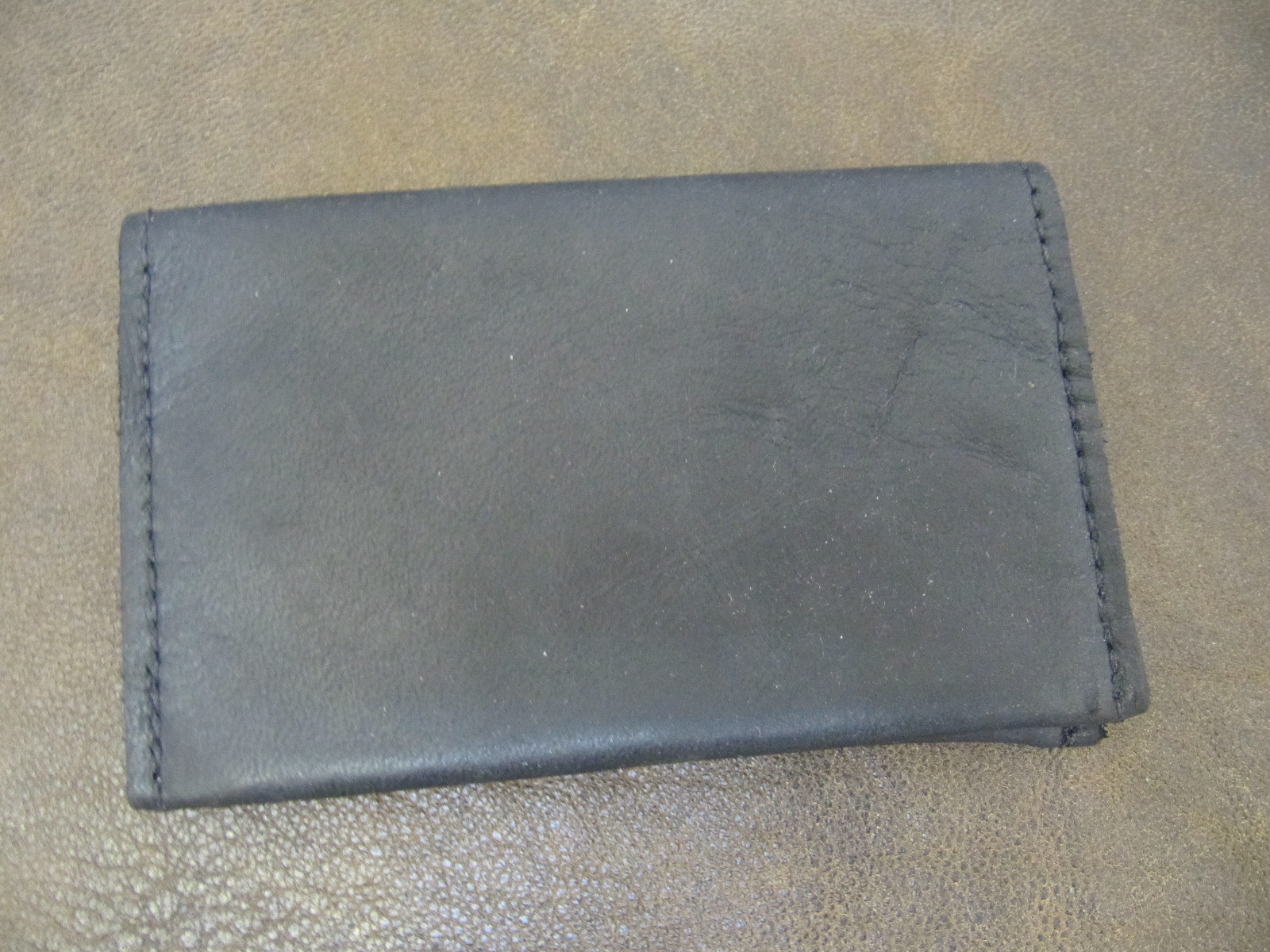 Leather Card Wallet - Black
