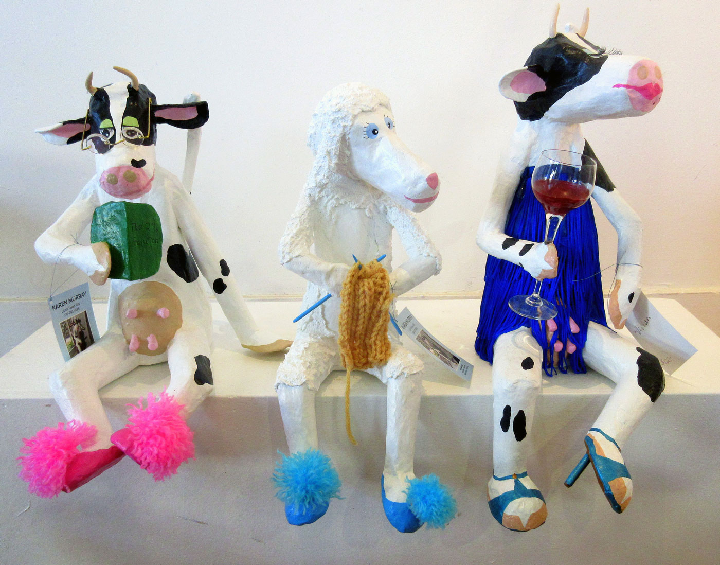 Karen Murray: paper maché sculptures