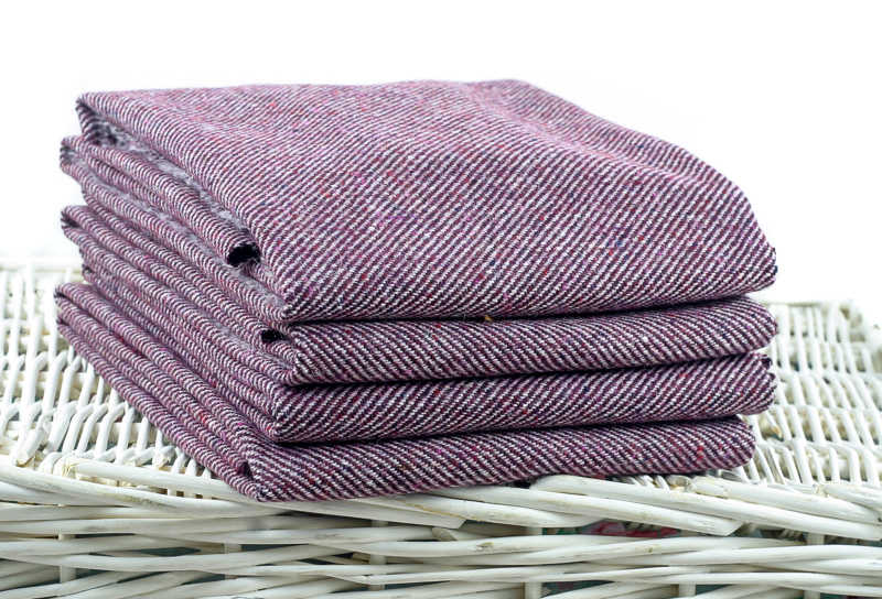 Fabric Affair:Errigal Collection:Plum Twill:Multi-Check Tweed.