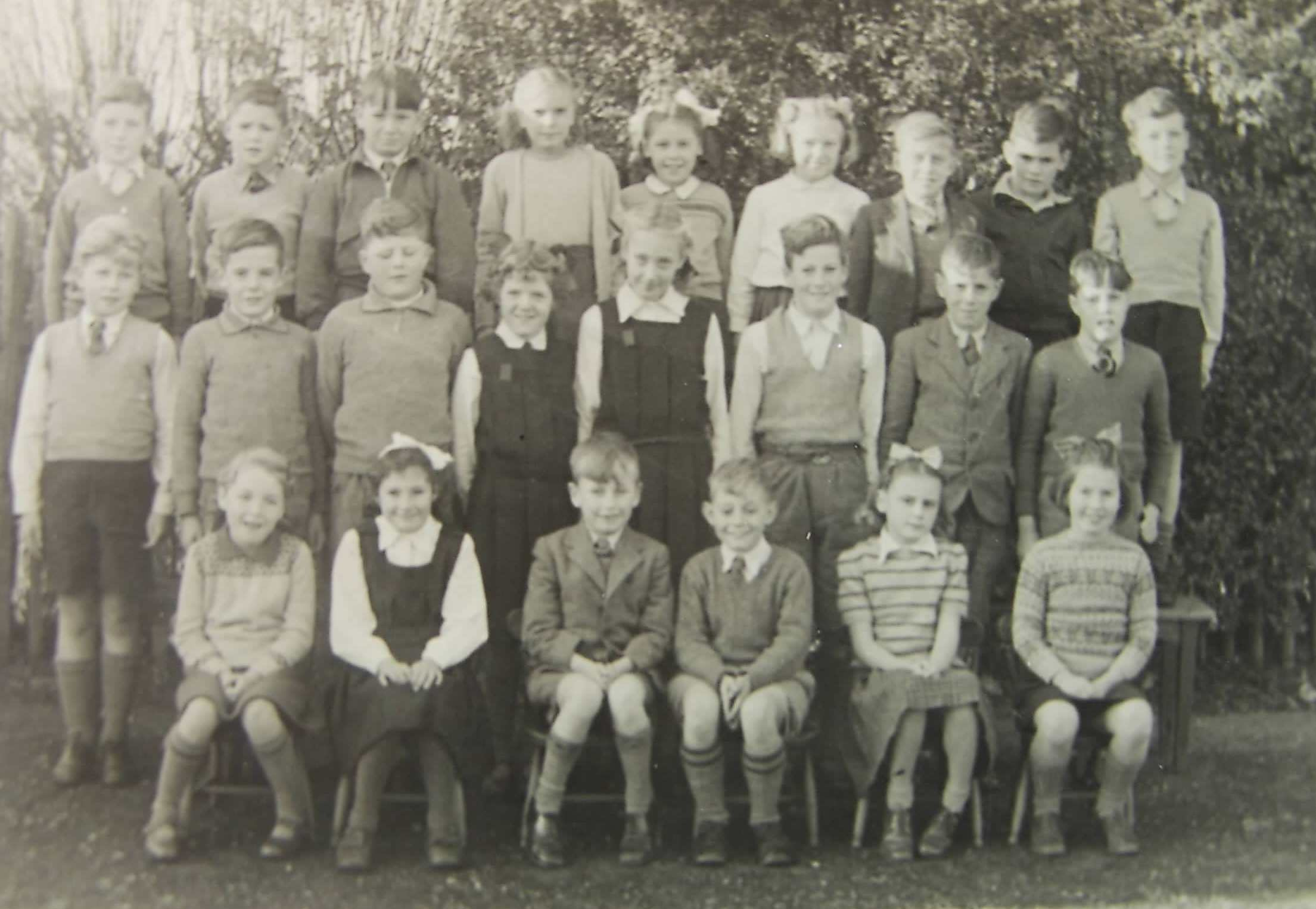 Pupils at Corton School possibly 1950s