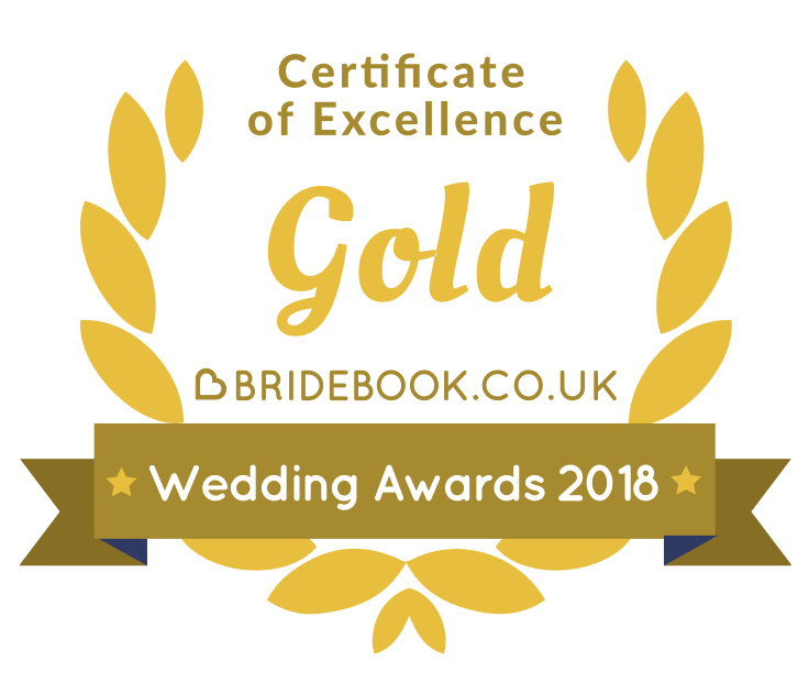 Bridebook Wedding Disco Suffolk Gold Award 2018