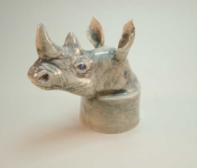 Rhino bottle topper