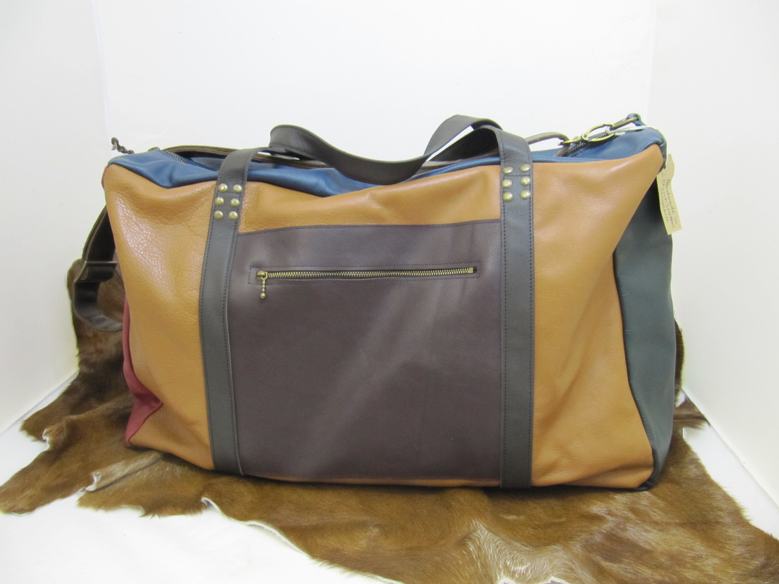 Flight Travel bag in Multi-coloured leather