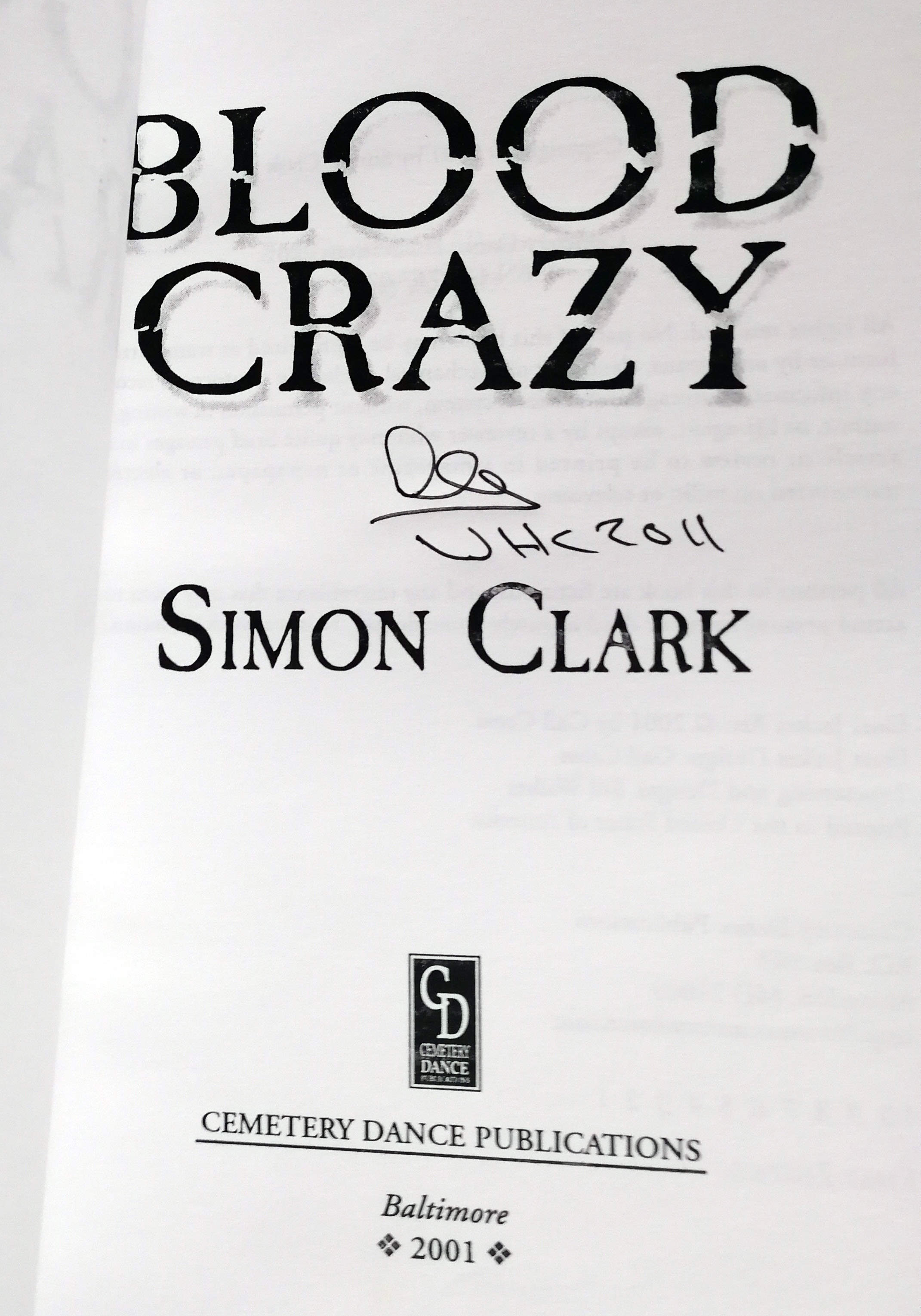 Blood Crazy Signed US Proof