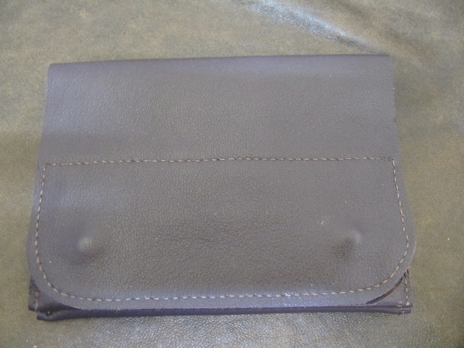 Dark purple Leather Wallet