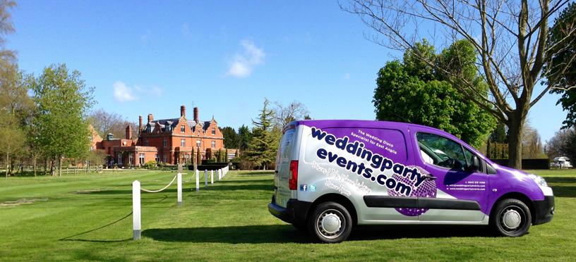 Chippenham Park Wedding Disco & DJ Van View