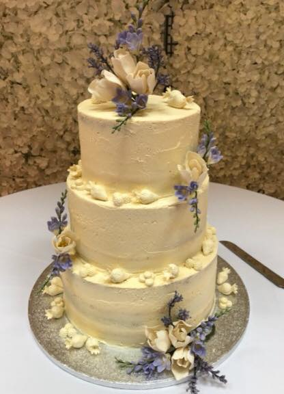 Lavender Buttercream Wedding Cake