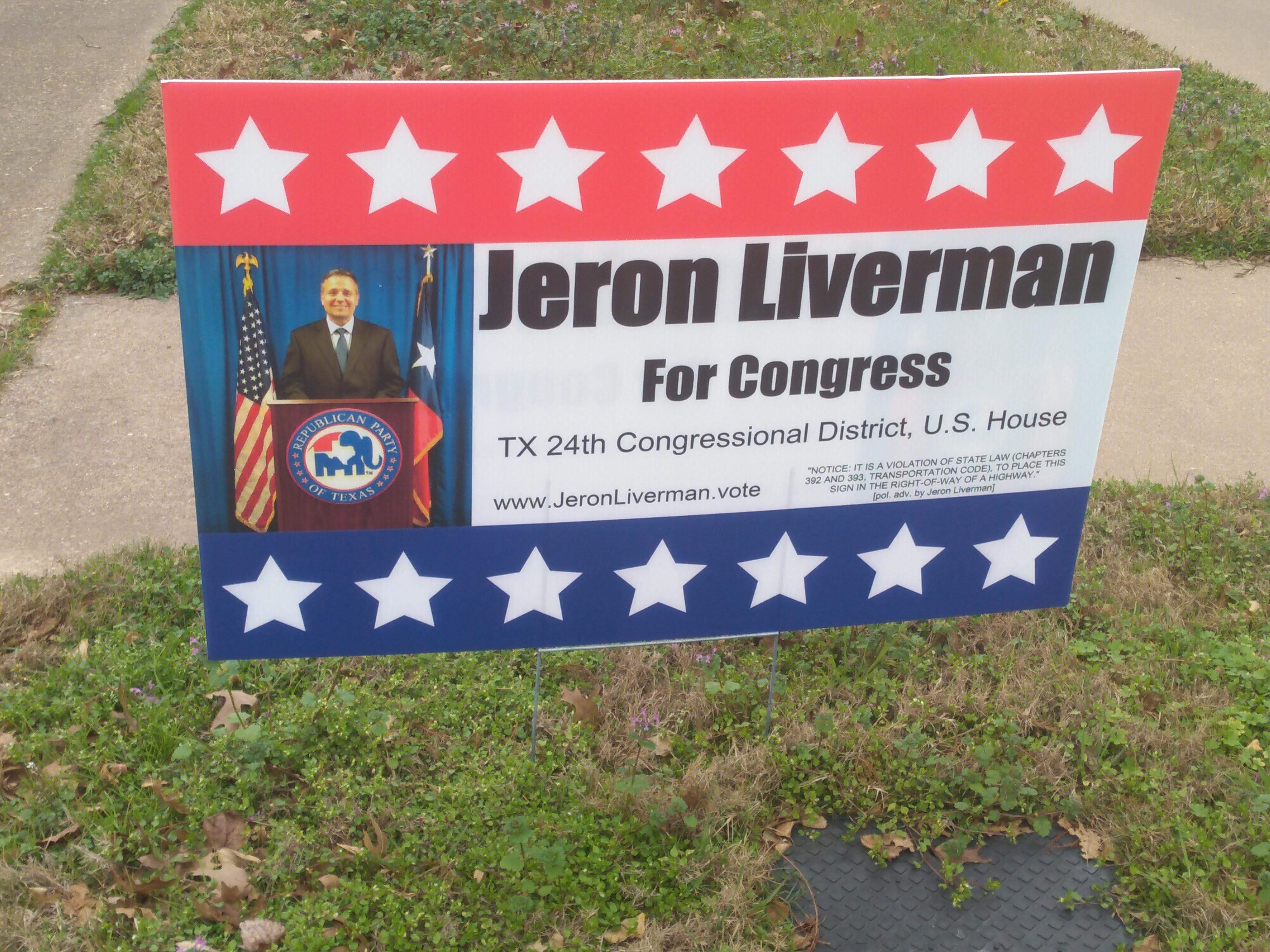 District 24, ... sign in your front yard?