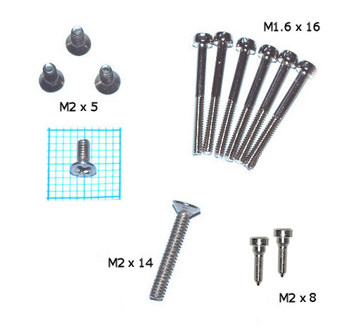 Set of screws for fixing reedplates: SAXONY, DE LUXE and FANFARE