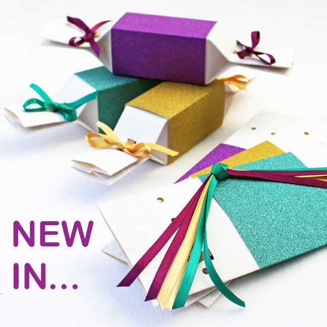 New Crackers with glitter sleeves