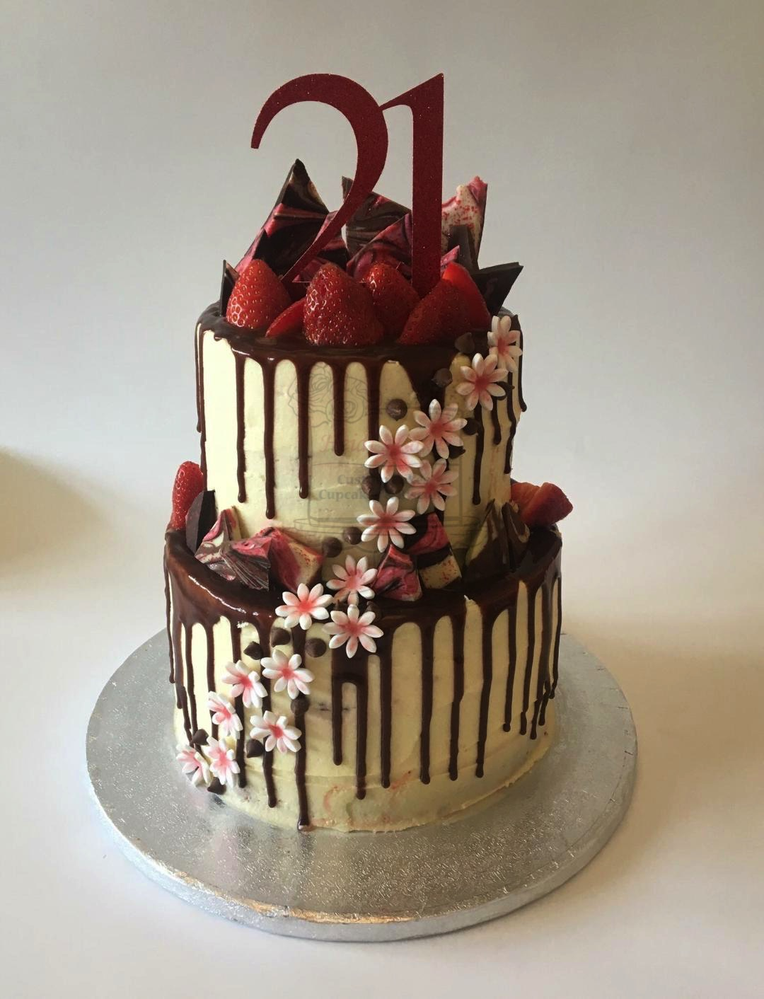 Sugar Flowers & Choc 2 Tier