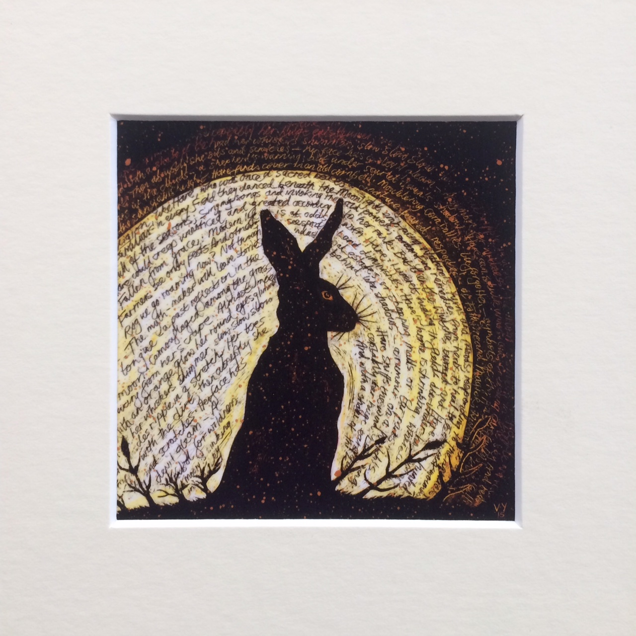 'Invocation' small mounted print