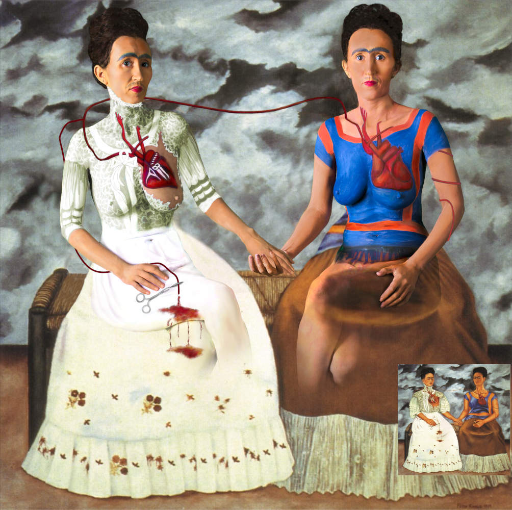 Frida Kahlo Double portrait