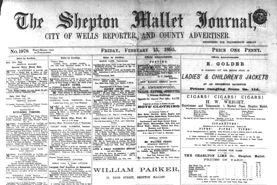 More newspaper clips from end of 19th century