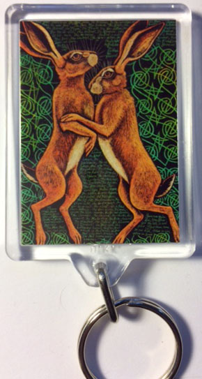 'The Hare-i-met' keyring