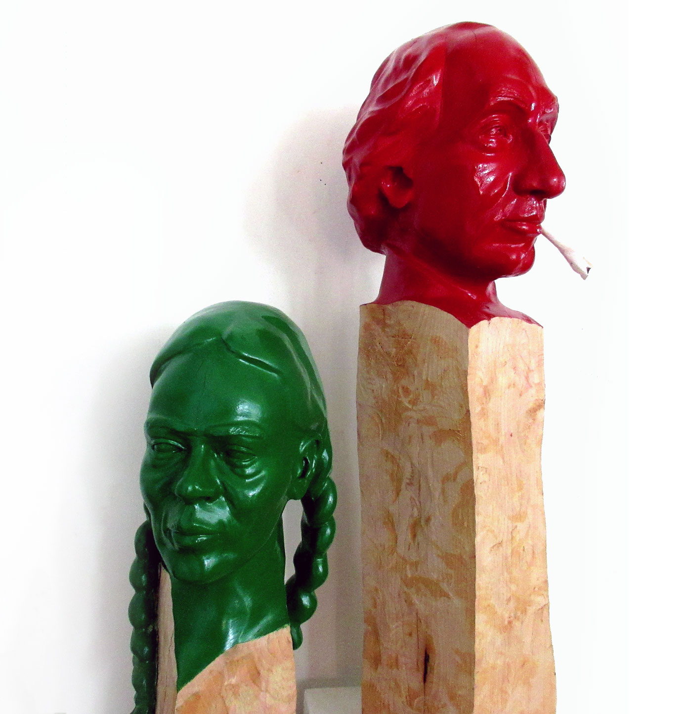 Hugh Moorhead:  Wood sculptures.