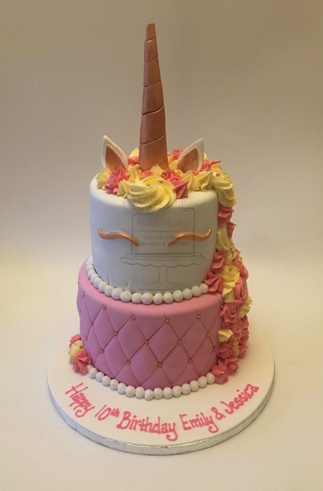 Unicorn 2 Tier Pink