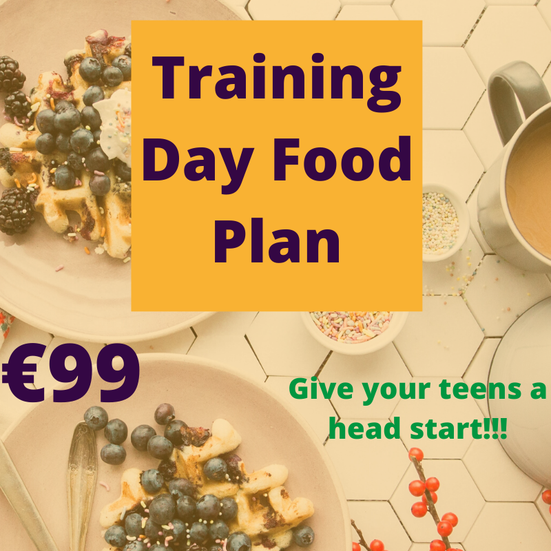 Creating a personalized training day food plan