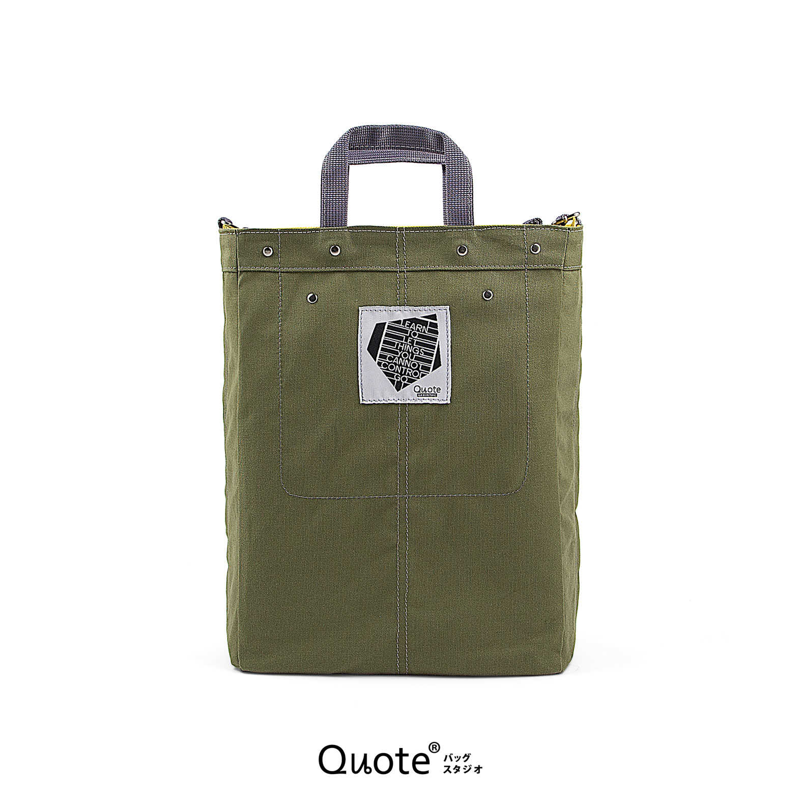 Coss-over bag # M Green/Grey || クロスボディバッグ)
