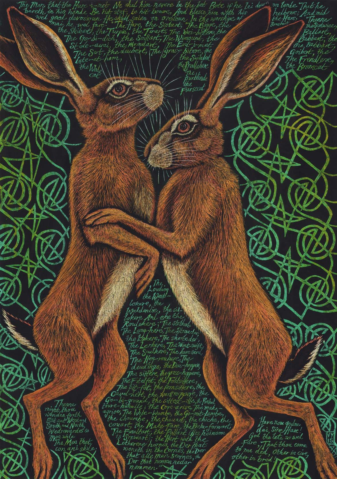 'The hare i-met' A4 print