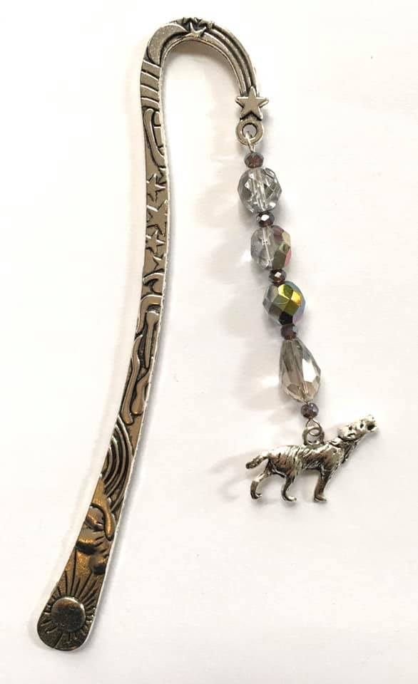 wolf large bookmark