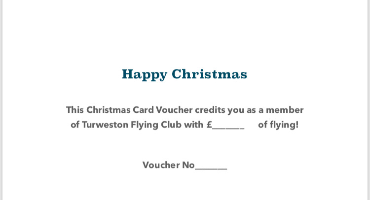 Christmas Flying Credit for TFC Members