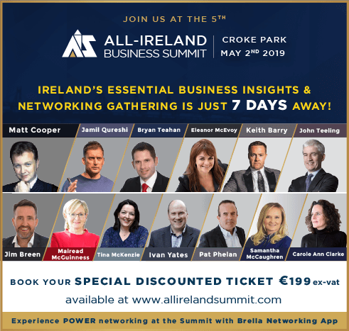 Speaking at the All Ireland Business Summit 2019