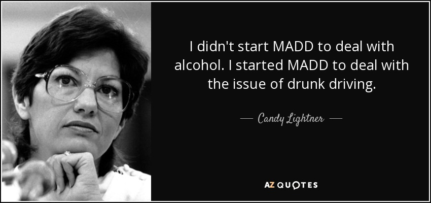 Candace Lightner of MADD