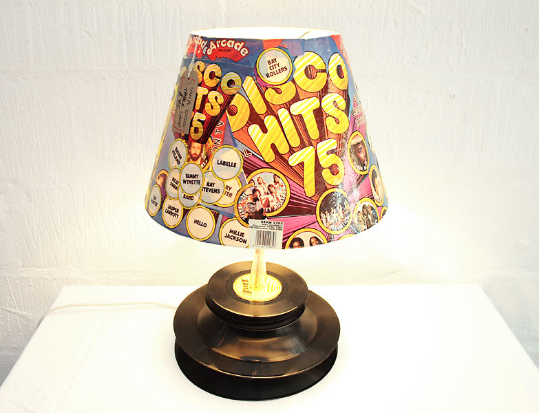Vinyl Disco Table Lamp