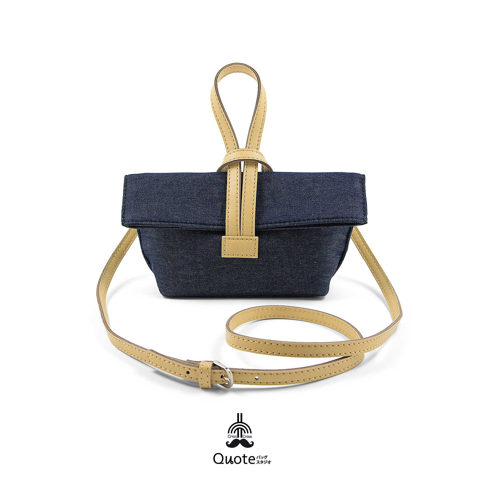 Mini Cross-cross(十字ミニ) || Navy Blue Cream