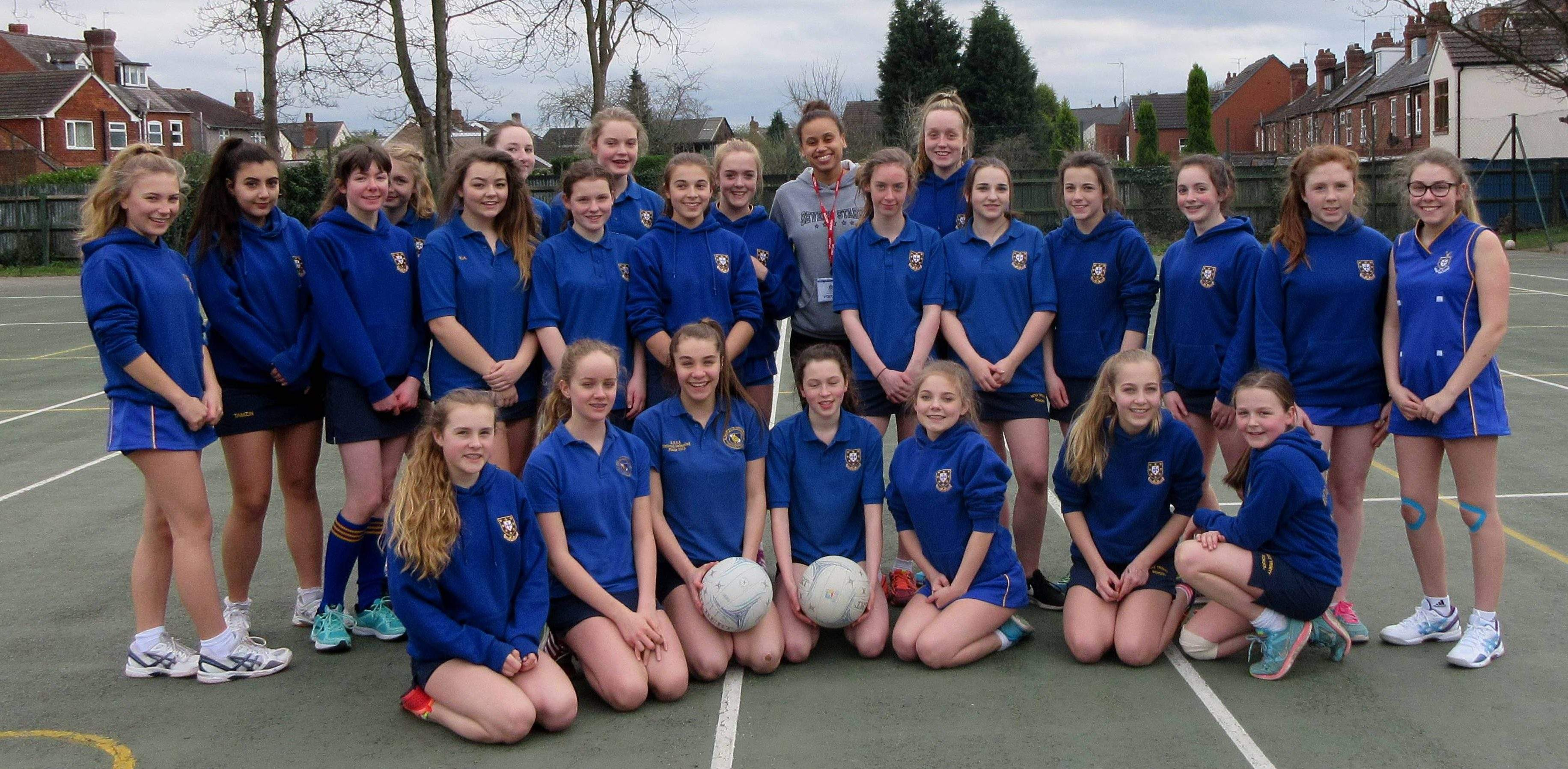 Severn Stars Netball Captain Visits Kidderminster School