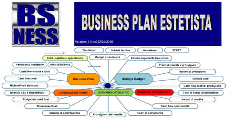 software business plan estetista