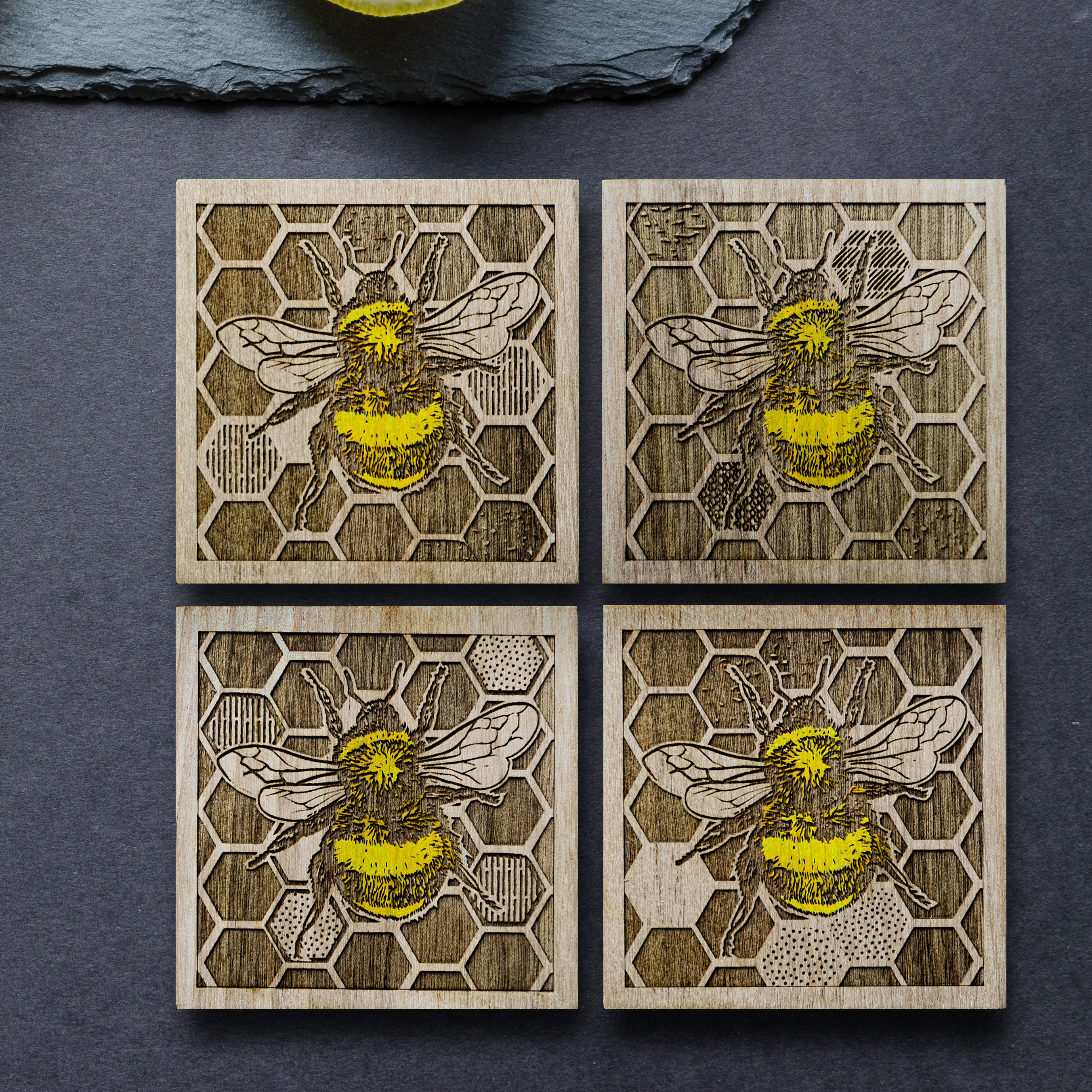 Bumblebee Coaster set