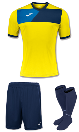JOMA CREW II KIT- YELLOW NAVY