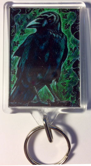 'Crow and Ivy' keyring