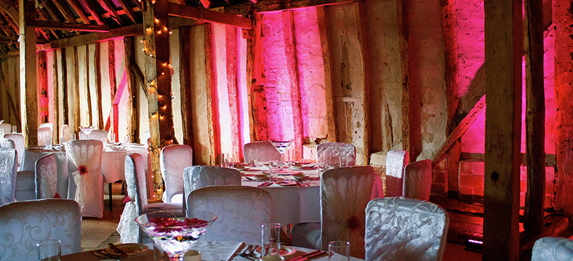 Wedding Barn Uplighting