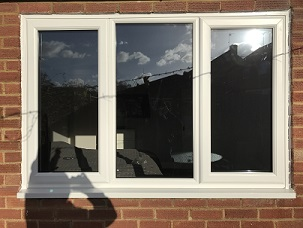 White PVCu standard Casement window increased height from original