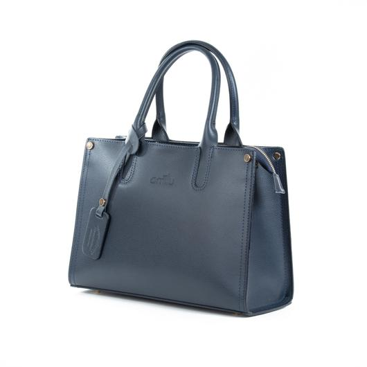 Morley Navy Real Textured Ruga Leather Grab Tote Bag