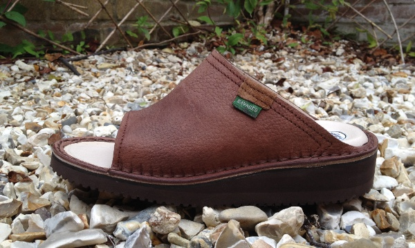 Open Toe Mule Rustic Brown