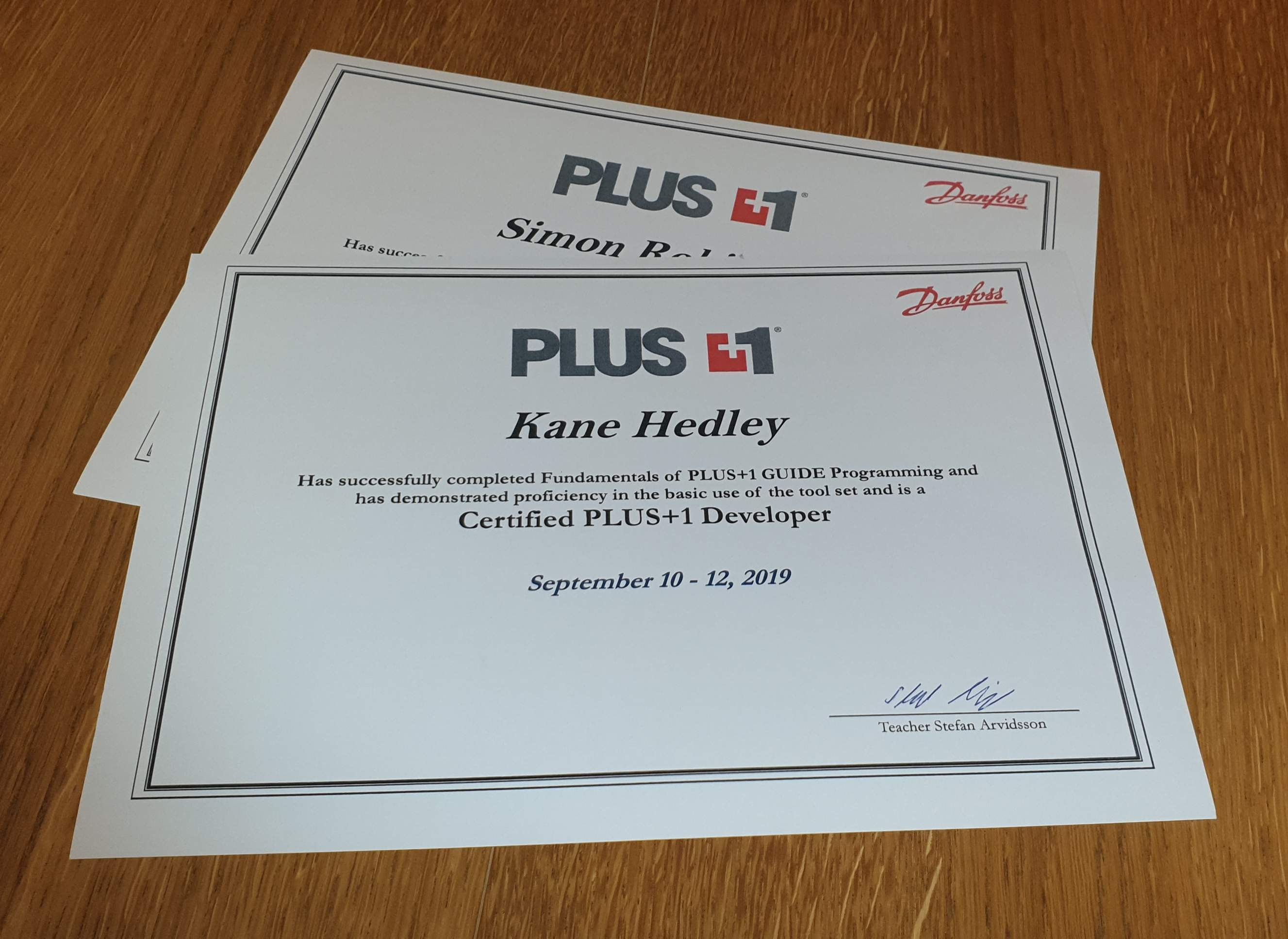 Danfoss Plus 1 Certification