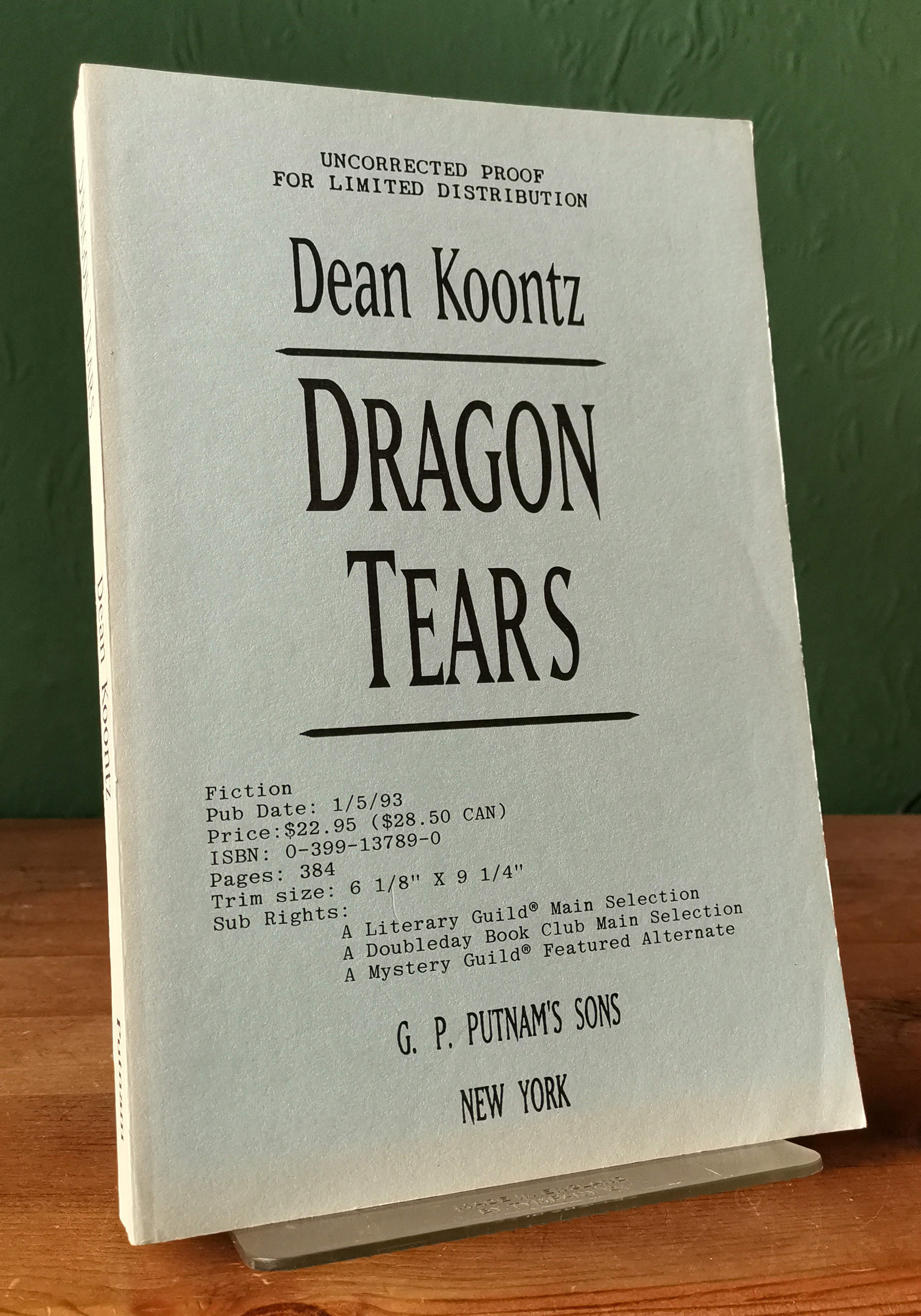Dragon Tears US proof